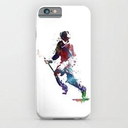 Lacrosse player art 3 iPhone Case