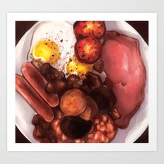 Irish Breakfast Art Print