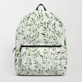 Eucalyptus Leaves Pattern Backpack