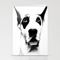 great dane Stationery Cards featuring Great Dane  by Mr Shins