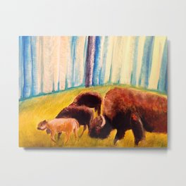Bison Exodus Metal Print