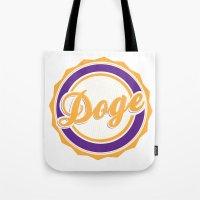 doge Tote Bags featuring Doge by Tasha-Nova