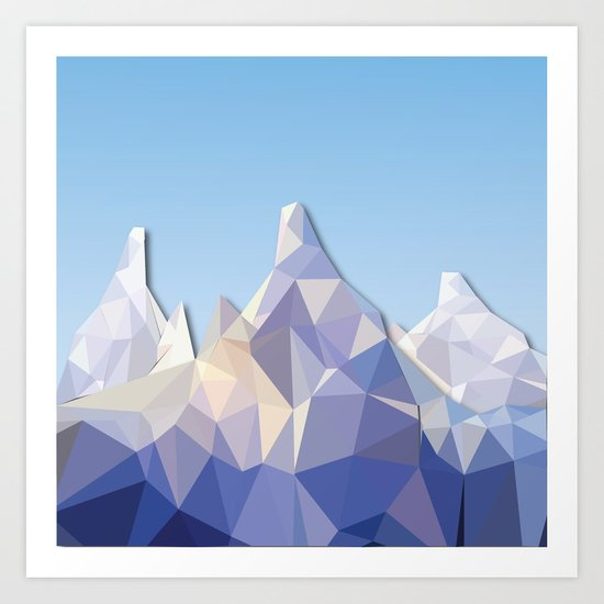 Night Mountains No. 37 Art Print