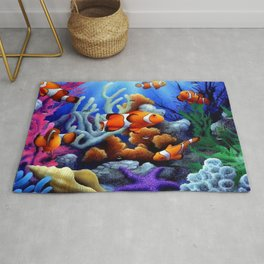 Coral Reef and Clownfish Rug