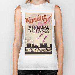 Vintage poster - Venereal Diseases Biker Tank