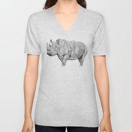 Northern White Rhino Unisex V-Neck