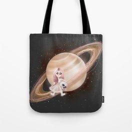 Lost in a Space / Saturnesse Tote Bag