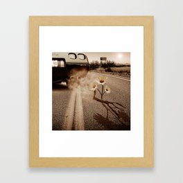 Exhausting Pipe Flowers Framed Art Print
