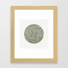 Reeds Abstract Circular Framed Art Print