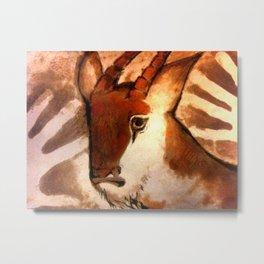 Antelope - Cave Art Metal Print
