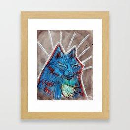 Blue Blue Baby Framed Art Print