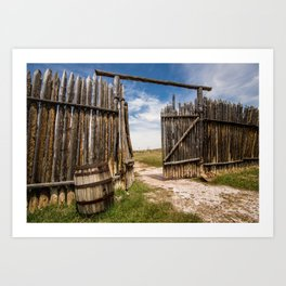 Historic Fort Bridger Gate - Wyoming Art Print