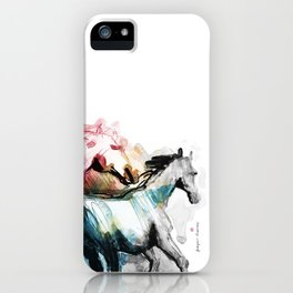 Horses (Mom&kid fragment) iPhone Case