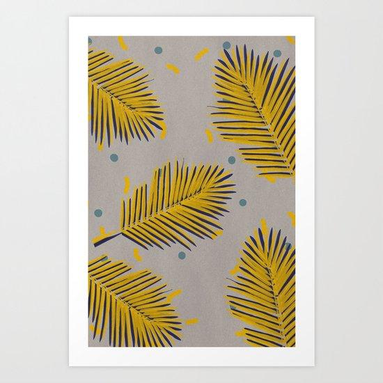 Palm leaf 1 Art Print