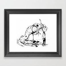A Carnivore's Dream Framed Art Print