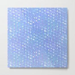 Blue Violet Triangles Metal Print