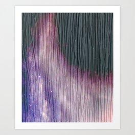 446 2 Lavender & Gray Watercolor Stain Art Print