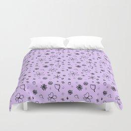 Periwinkle Flower Power Duvet Cover