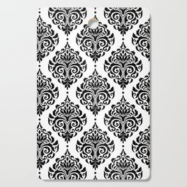 Black and White Damask Cutting Board