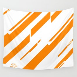 Color With Simplicity Orange Wall Tapestry