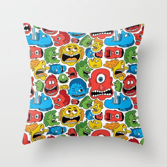 Creeps Throw Pillow