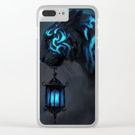 Blue Lantern Clear iPhone Case