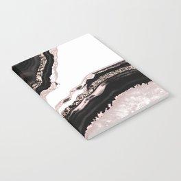 Agate Glitter Glam #4 #gem #decor #art #society6 Notebook