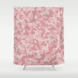 Camouflage Blush Shower Curtain