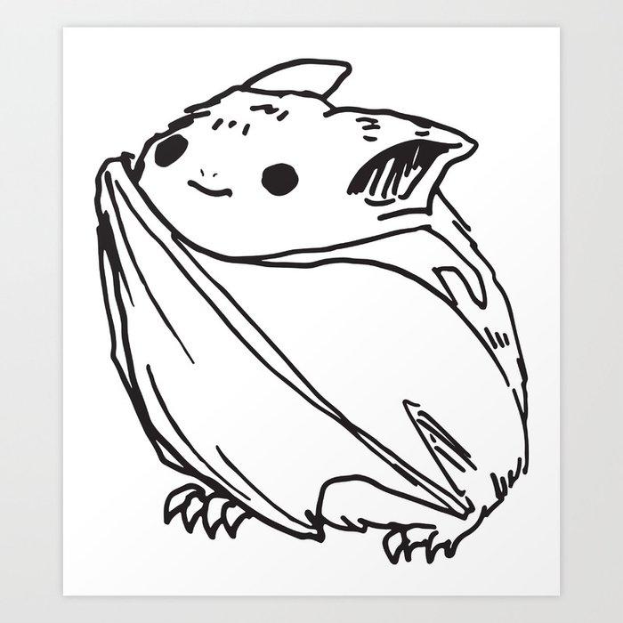 CUTE BAT Art Print