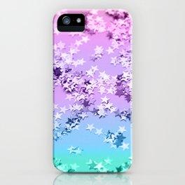 Unicorn Girls Glitter Stars #1 #shiny #decor #art #society6 iPhone Case
