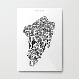 Staten Island, White Metal Print