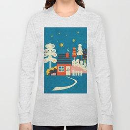 Festive Winter Hut Long Sleeve T-shirt