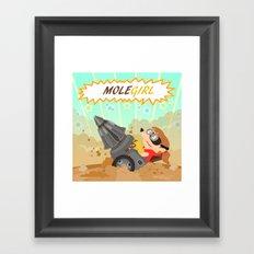 Molegirl Framed Art Print
