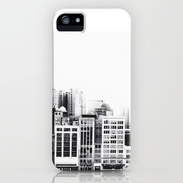 Woodward Avenue Downtown Detroit Black and White Print iPhone Case