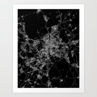 madrid Art Prints featuring Madrid by Line Line Lines