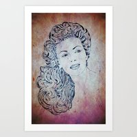 lana Art Prints featuring Lana by Rabassa