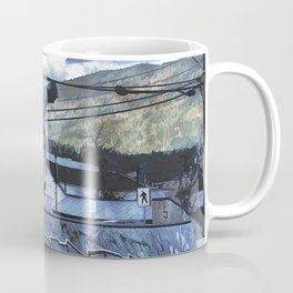 Tipping Point -Skateboarder Launching - Outdoor Sports Coffee Mug
