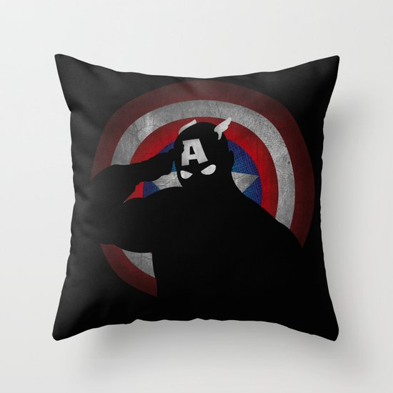 SuperHeroes Shadows : Captain America Throw Pillow