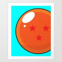 dragonball z Art Prints featuring Sacred Dragonball by Hussein Ibrahim