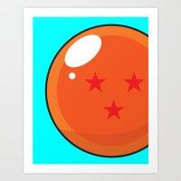 dragonball Art Prints featuring Sacred Dragonball by Hussein Ibrahim