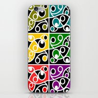 maori iPhone & iPod Skins featuring Maori Kowhaiwhai Pattern by mailboxdisco
