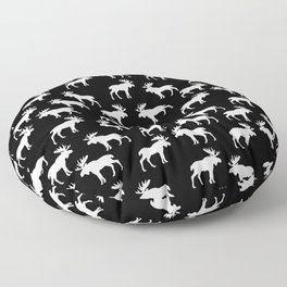 Moose Trot // Black Floor Pillow