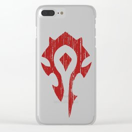 horde torn Clear iPhone Case