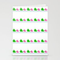 preppy Stationery Cards featuring Preppy MaMa Whale by Jozane House