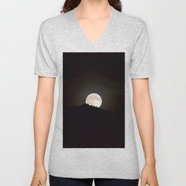 Full Moon Supermoon Unisex V-Neck