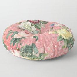 Vintage Rose Garden Floor Pillow