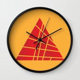 Sliced Red Pyramid Wall Clock