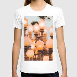 Urban Light LACMA Los Angeles California USA with blue sky T-shirt