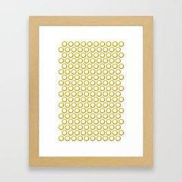 Sonic rings x180 Framed Art Print