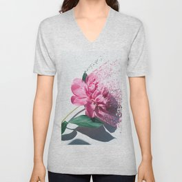 Fragmented flora Unisex V-Neck